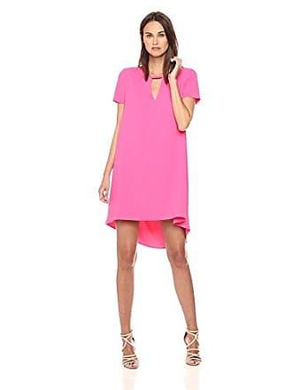 Trina Turk Womens Floramaria Carmel Crepe Swing Dress, Pink Swizzle, 2