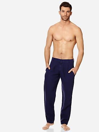 Vilebrequin Men Ready to Wear - Men straight Linen Pants Solid - PANT - PANACHE - Blue - XXXL - Vilebrequin