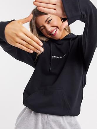 In The Style x Jac Jossa loungewear motif slogan hooded sweat top in black