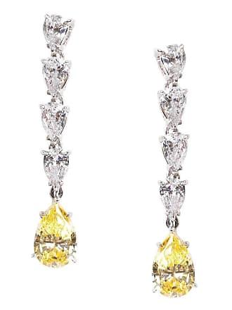 Fantasia Sterling Silver & Palladium Petite Pearshape Canary Drop Earrings