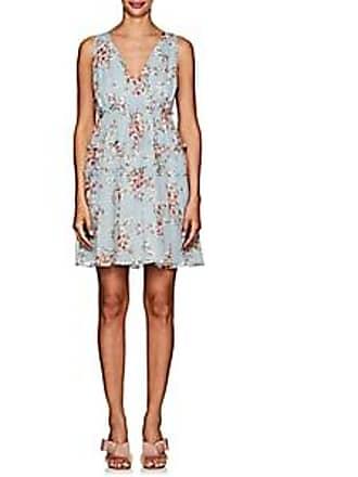 FiveSeventyFive Womens Floral Crinkled Georgette Minidress - Lt. Blue Size XL