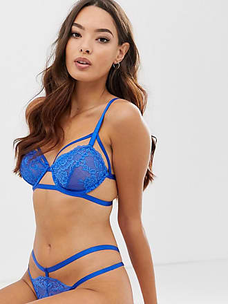 a7878b55cc61 Asos Allie - Reggiseno in pizzo con cut-out e ferretto - Blu