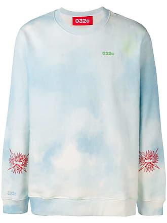 032c tie-dye print sweatshirt - Blue
