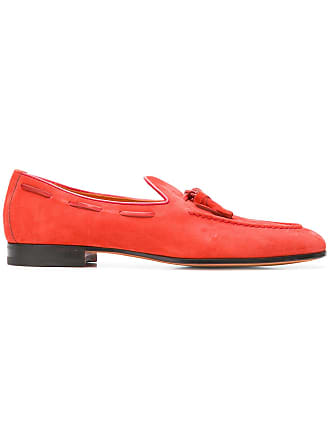 63a9a12052e Santoni lace through tassel loafers - Red