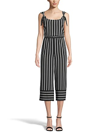 5twelve Striped Tie-Shoulder Scoop-Neck Cropped Jumpsuit