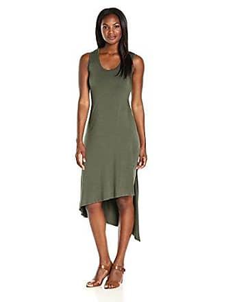 Karen Kane Womens Stevie Tank Dress, Olive, XS