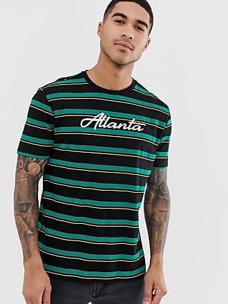 1819098156d5 Asos T-shirt comoda a righe con nome di città in cotone biologico - Verde