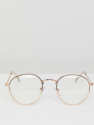 e0d03922c6cd Asos metal round glasses with clear lens in gold - Gold