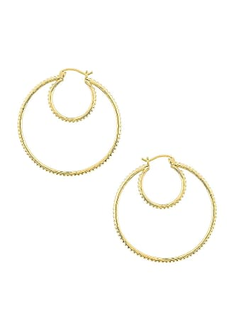 Gorjana Bali Double Hoops in Metallic Gold