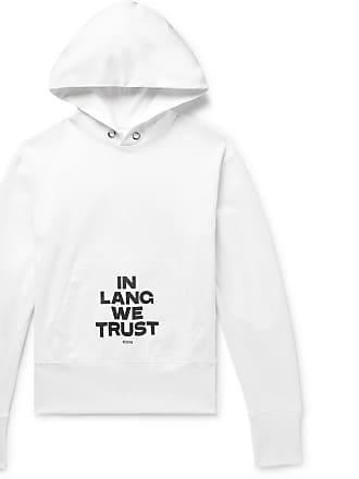 Helmut Lang Printed Loopback Cotton-jersey Hoodie - White