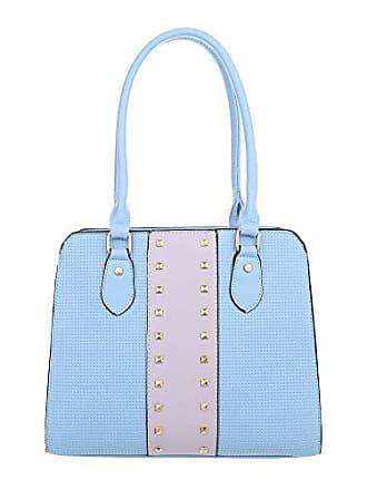 3d32675b2fccf Ital-Design Damen-Tasche Mittelgroße Schultertasche Handtasche Kunstleder  Hellblau TA-K679