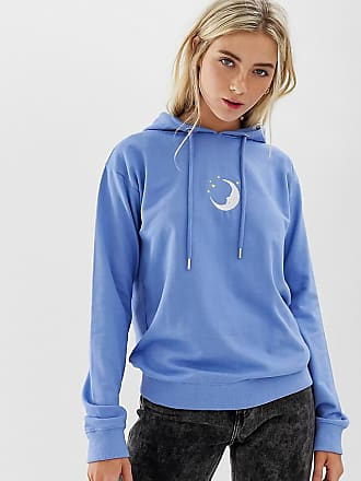 d3a8a2e1516 Daisy Street boyfriend hoodie with embroidered moon