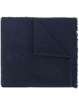 Zanone frayed edge scarf - Blue