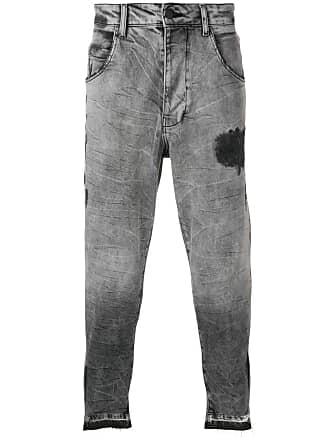 Thom Krom cropped distressed jeans - Cinza