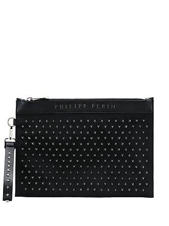 Philipp Plein Bolsa clutch com tachas - Preto