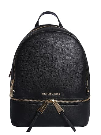 d47141cb6c Michael Kors WOMENS 30S5GEZB1L001 BLACK LEATHER BACKPACK