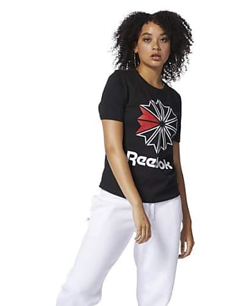 1ce625b44 Reebok Womens Big Logo Graphic Tee Shirt, Black/White, S/P