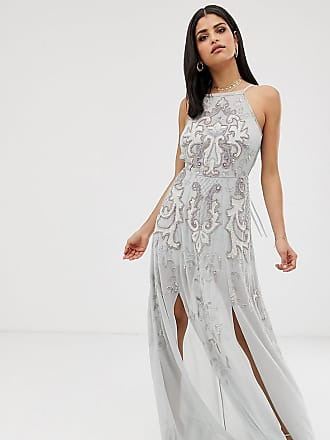 11efcf663c Asos Tall ASOS DESIGN Tall maxi dress with pinny bodice and embellished  artwork