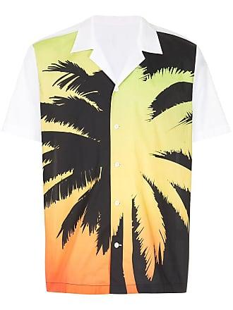 Ports V Camisa com estampa de palmeira - Branco