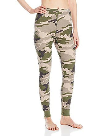 Fruit Of The Loom Womens Waffle Thermal Bottoms, Green Camo, X-Large
