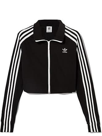 adidas Originals Verkürzte Trainingsjacke Aus Stretch-jersey Mit Streifen -  Schwarz 86995ec5ce