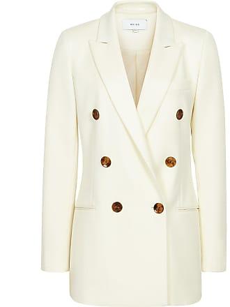 e6029dd6498fa Reiss Aleida - Double Breasted Blazer in White