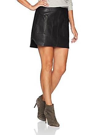 bb63d61fb Bcbgmaxazria Womens Sabina Knit Faux Leather Skirt, Black, M