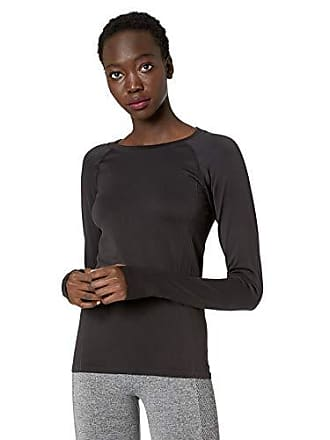 Maidenform Womens Seamless Sport Baselayer Thermal Crewneck Top, Black, Large