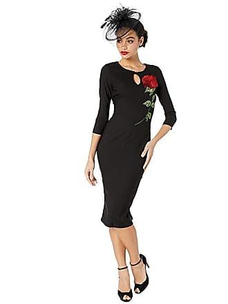 Unique Vintage 1960s Maryland Wiggle Dress (Black) Womens Dress