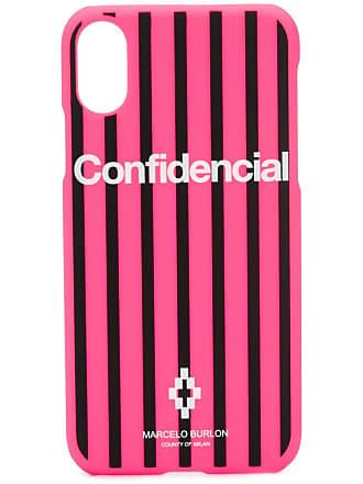 Marcelo Burlon Capa para Iphone X Confidencial - Rosa