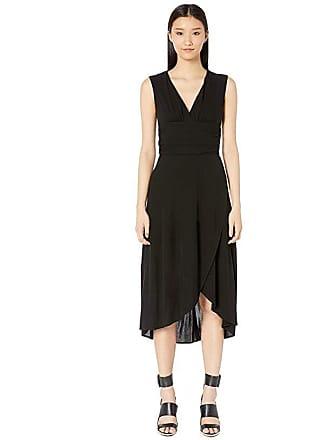 Yigal AzrouËl Sleeveless V-Neck Matte Jersey Dress (Black) Womens Dress