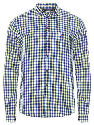 Tommy Jeans CAMISA MASCULINA GINGHAM SHIRT - AMARELO