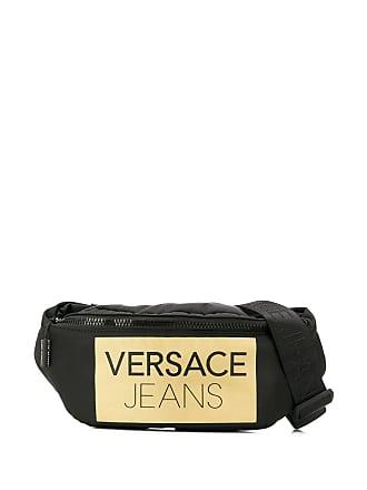 Versace Jeans Couture Pochete com logo e zíper - Preto