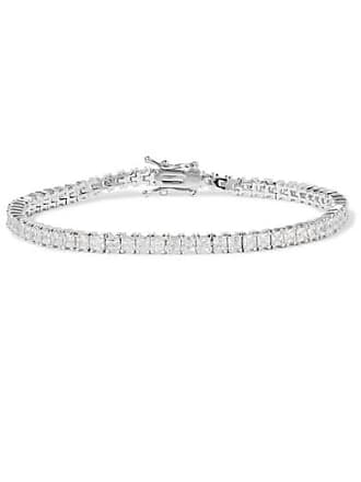Kenneth Jay Lane Rhodium-plated Cubic Zirconia Bracelet - Silver