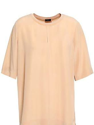 Joseph Joseph Woman Washed-silk Top Pastel Orange Size 36