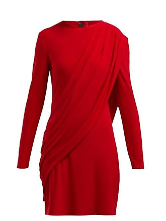 Norma Kamali Draped Jersey Dress - Womens - Red
