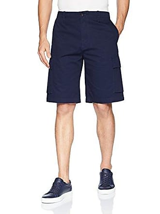 Lacoste Mens Broken Twill Cargo Bermuda Shorts, FH4681, Navy Blue 38