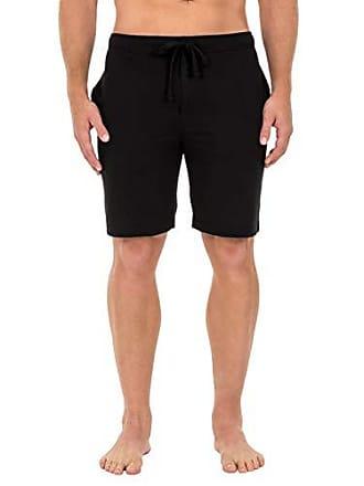 Fruit Of The Loom Mens Breathable Mesh Pajama Short, Solid Black, Medium