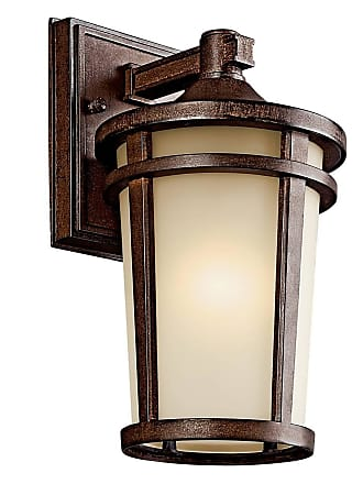 Kichler 49071BSTFL Outdoor Wall 1Lt Fluorescent in Brown Stone. ENERGY STAR qualified light fixture