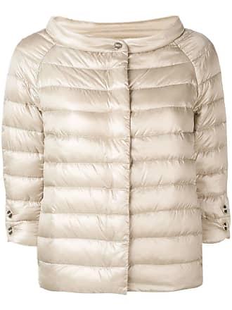 Herno short cropped sleeve jacket - Neutrals