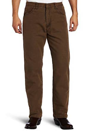 Wrangler Mens Rugged Wear Woodland Thermal Jean,Night Brown,30x32
