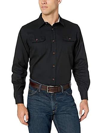 Wrangler Authentics Mens Long-Sleeve Classic Woven Shirt,Caviar,X-Large