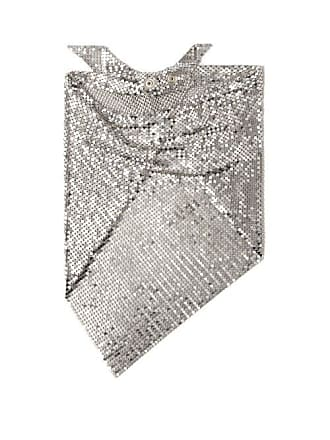 Paco Rabanne Chainmail Mesh Triangle Scarf - Womens - Silver