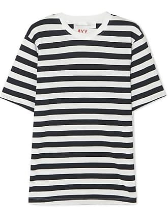 8900e23753e Victoria Beckham T-shirt En Jersey De Coton À Rayures - Blanc