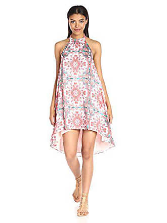 5bbe67b1214a Minkpink Womens Hows The Serenity High Neck Halter Printed Swing Dress,  Multi, X-