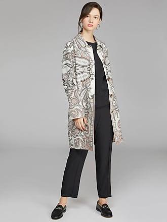 Etro Paisley Print Coat, Woman, White, Size 38