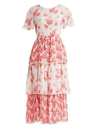 Athena Procopiou Sundown Breeze Tiered Silk Dress - Womens - White Multi