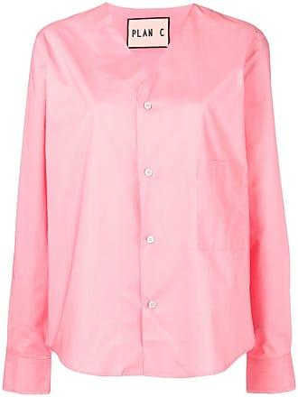 Plan C v-neck loose-fit shirt - Rosa