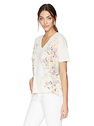 Lucky Brand Womens Floral TEE, Egg Shell, L