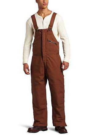 Key Apparel Mens Insulated Duck Bib Overall, Saddle, Small-Regular